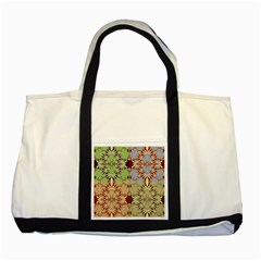 Multicolor Fractal Background Two Tone Tote Bag