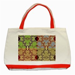 Multicolor Fractal Background Classic Tote Bag (red)