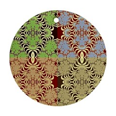 Multicolor Fractal Background Round Ornament (two Sides)