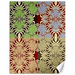 Multicolor Fractal Background Canvas 12  X 16