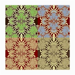 Multicolor Fractal Background Medium Glasses Cloth (2 Side)