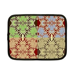 Multicolor Fractal Background Netbook Case (small)