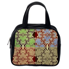 Multicolor Fractal Background Classic Handbags (One Side)