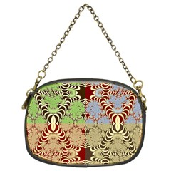 Multicolor Fractal Background Chain Purses (two Sides)