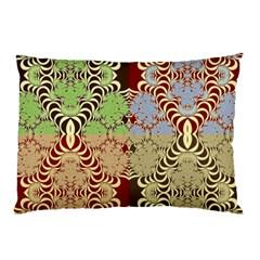 Multicolor Fractal Background Pillow Case