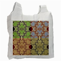 Multicolor Fractal Background Recycle Bag (One Side)