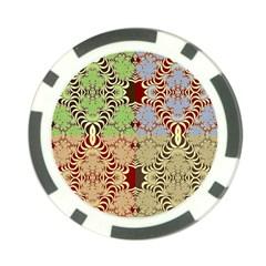 Multicolor Fractal Background Poker Chip Card Guard (10 Pack)