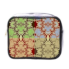 Multicolor Fractal Background Mini Toiletries Bags