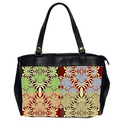Multicolor Fractal Background Office Handbags (2 Sides)