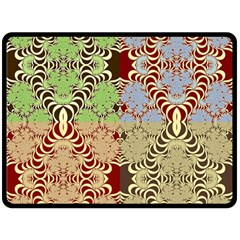 Multicolor Fractal Background Fleece Blanket (large)