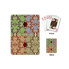 Multicolor Fractal Background Playing Cards (mini)