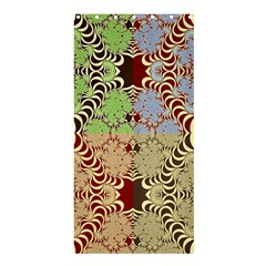 Multicolor Fractal Background Shower Curtain 36  x 72  (Stall)