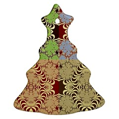 Multicolor Fractal Background Ornament (christmas Tree)