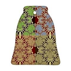 Multicolor Fractal Background Ornament (bell)