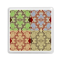 Multicolor Fractal Background Memory Card Reader (Square)