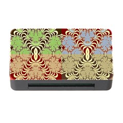 Multicolor Fractal Background Memory Card Reader With Cf