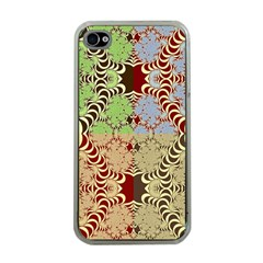 Multicolor Fractal Background Apple Iphone 4 Case (clear)