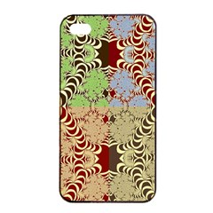Multicolor Fractal Background Apple Iphone 4/4s Seamless Case (black)