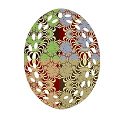 Multicolor Fractal Background Ornament (Oval Filigree)