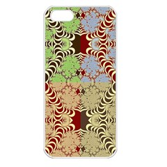 Multicolor Fractal Background Apple Iphone 5 Seamless Case (white)