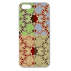 Multicolor Fractal Background Apple Seamless Iphone 5 Case (clear)