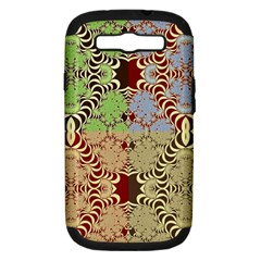 Multicolor Fractal Background Samsung Galaxy S Iii Hardshell Case (pc+silicone)