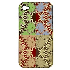 Multicolor Fractal Background Apple Iphone 4/4s Hardshell Case (pc+silicone)