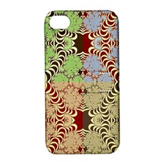 Multicolor Fractal Background Apple Iphone 4/4s Hardshell Case With Stand