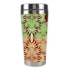 Multicolor Fractal Background Stainless Steel Travel Tumblers