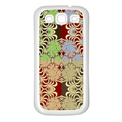 Multicolor Fractal Background Samsung Galaxy S3 Back Case (white)