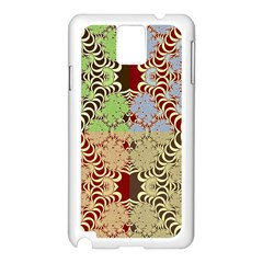 Multicolor Fractal Background Samsung Galaxy Note 3 N9005 Case (white)