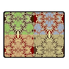 Multicolor Fractal Background Double Sided Fleece Blanket (Small)