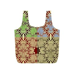 Multicolor Fractal Background Full Print Recycle Bags (s)