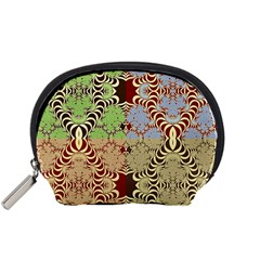 Multicolor Fractal Background Accessory Pouches (Small)