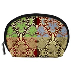 Multicolor Fractal Background Accessory Pouches (large)