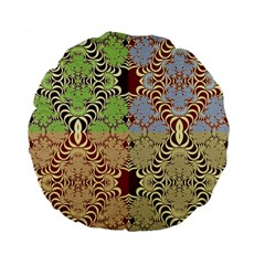 Multicolor Fractal Background Standard 15  Premium Flano Round Cushions