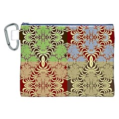 Multicolor Fractal Background Canvas Cosmetic Bag (XXL)