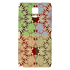 Multicolor Fractal Background Galaxy Note 4 Back Case