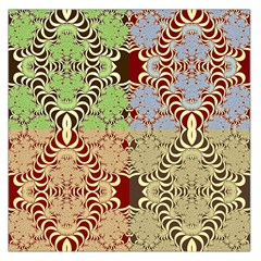 Multicolor Fractal Background Large Satin Scarf (Square)