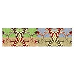 Multicolor Fractal Background Satin Scarf (Oblong)