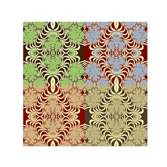 Multicolor Fractal Background Small Satin Scarf (square)