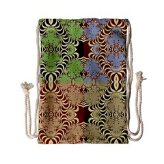 Multicolor Fractal Background Drawstring Bag (Small)