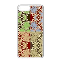 Multicolor Fractal Background Apple Iphone 7 Plus White Seamless Case