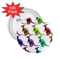 Multicolor Dinosaur Background 2.25  Buttons (100 pack)