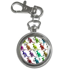 Multicolor Dinosaur Background Key Chain Watches