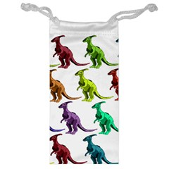 Multicolor Dinosaur Background Jewelry Bag