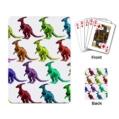 Multicolor Dinosaur Background Playing Card