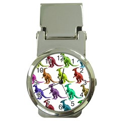 Multicolor Dinosaur Background Money Clip Watches