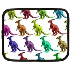 Multicolor Dinosaur Background Netbook Case (Large)