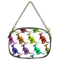 Multicolor Dinosaur Background Chain Purses (One Side)